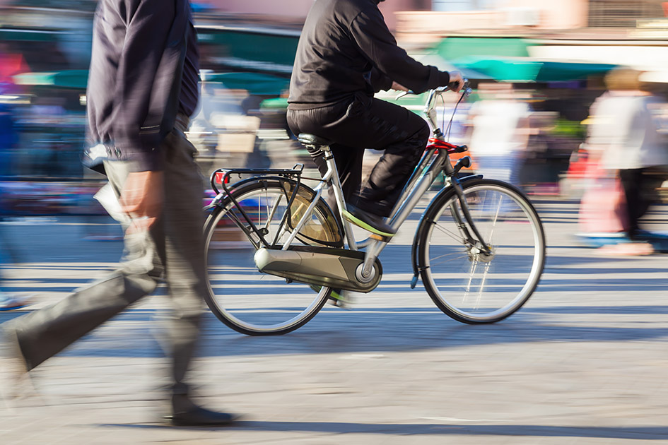 Commuting on foot or by bicycle