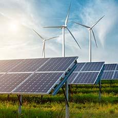 Windräder und Solarenergie